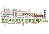 Entrepreneurship word cloud concept — Stock Photo