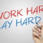 Work hard Play hard — Stock Photo