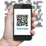 QR code scanning application — Stock Photo #40100549