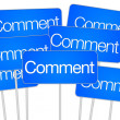 Stock Photo: Comment signs for social media