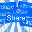 Share social media — Stock Photo