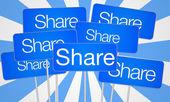 Share social media — Stock Photo