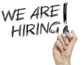 We're hiring advertisement — Stock fotografie
