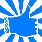 Thumbs up icon for social media like — Stock Photo