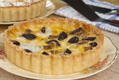 Mushroom & Leek Quiche — Stock Photo