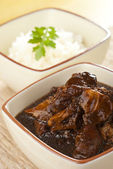 Braised Pig Trotters in Dark Soy Sauce — Stock Photo