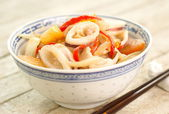 Stir Fried Squid — Stock Photo