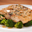 Fish Fillet a la meuniere with Baked Almonds. — Stock Photo