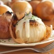Baked Onions with Vinaigrette Dressing — Stock Photo