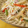 Stir Fried Mung Bean Sprouts w Dried Shrimps — Stock Photo