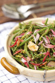 Wild Jungle Fern Salad w Toasted Coconut Dressing — Stock Photo