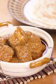 Panceta de cerdo al curry w roti canai — Foto de Stock