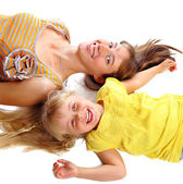 Mother and the daughter smile — Stock Photo
