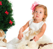 The nice two-year-old girl with a bear — Stock Photo