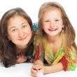 Portrait of joyful mother and her daughter — Stock Photo #23198336