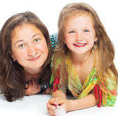 Portrait of joyful mother and her daughter — Stock Photo