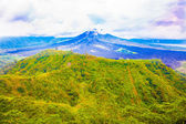The top of an active volcano — Stock Photo