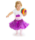 A little girl and the ball — Stock Photo