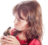 The girl with a turtle — Stock Photo
