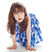 Adorable 6 year old girl — Stock Photo