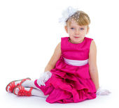 Little charming fashionista — Stock Photo