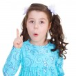 Little girl warns — Stock Photo #42777905