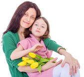 Little girl with her mother. — Stock Photo