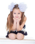 Portrait beautiful little girl. — Stock Photo
