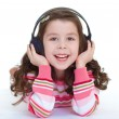 Charming and very musical little girl dancing. — Stock Photo #43547845