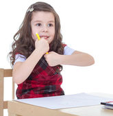 Kids drawing with crayons.  — Stock Photo