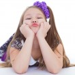 Smile of the beautiful 6-years old girl — Stock Photo #43687919