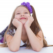 Smile of the beautiful 6-years old girl — Stock Photo #43687931
