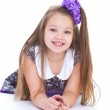 Smile of the beautiful 6-years old girl — Stock Photo