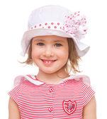 Little girl in summer hat. — Stock Photo