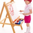 Young girl draws. — Stock Photo #45434431
