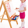 Young girl draws. — Stock Photo #45434447