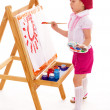 Young girl draws. — Stock Photo #45434467