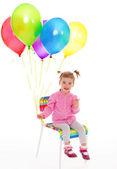 Balonlar ile kız. — Stok fotoğraf