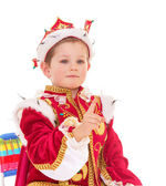 Little boy dressed as a king. — Stock Photo