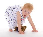 Charmant klein meisje met teddy bear — Stockfoto