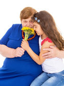 Grandmother with her granddaughter — Stock Photo