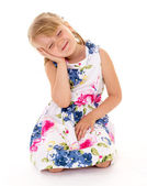 Soulful little girl. — Stock Photo
