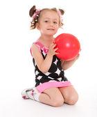 迷人的小女孩 — 图库照片