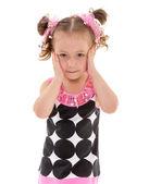 Sevimli kız okul öncesi — Stok fotoğraf