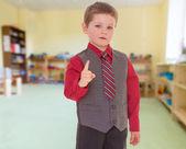 Very serious little boy — Stock Photo