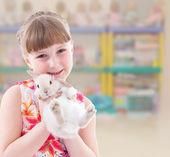 lovely smiling toddler portrait — Stockfoto