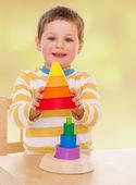 lovely smiling toddler portrait — Stock Photo