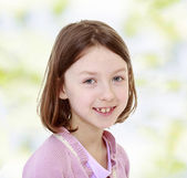 Smiling charming girl. — Stock Photo
