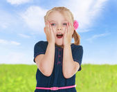 Emotional little girl. — Stock Photo