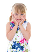 Charming look little girls — Stock Photo
